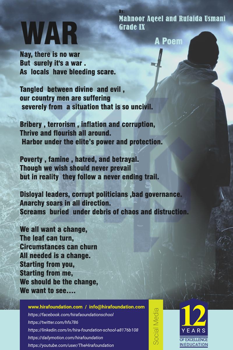War - A Poem