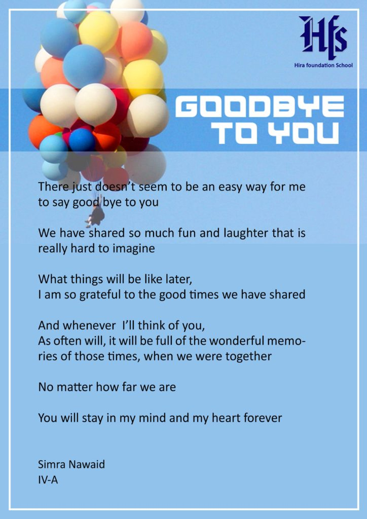 GOOD BYE TO YOU