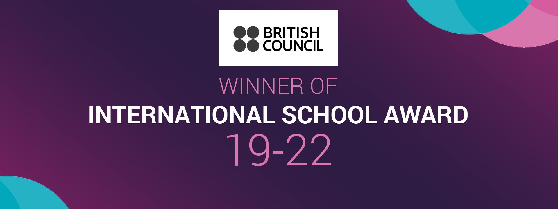 WINNING OF INTERNATIONAL SCHOOL AWARD HFS