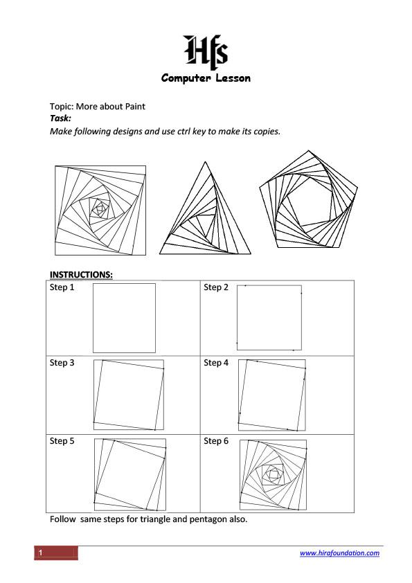 Computer Lesson 4 - Microsoft Paint- by Salma Haque