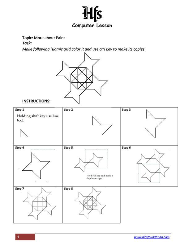 Computer Lesson 5 - Microsoft Paint- by Salma Haque  copy