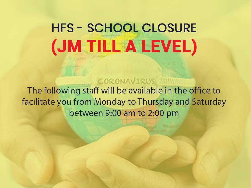 HFS - School Closure